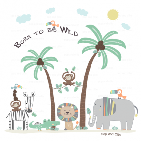 Whimsical Jungle Wall Decals
