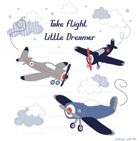 Airplane and Quote Decals