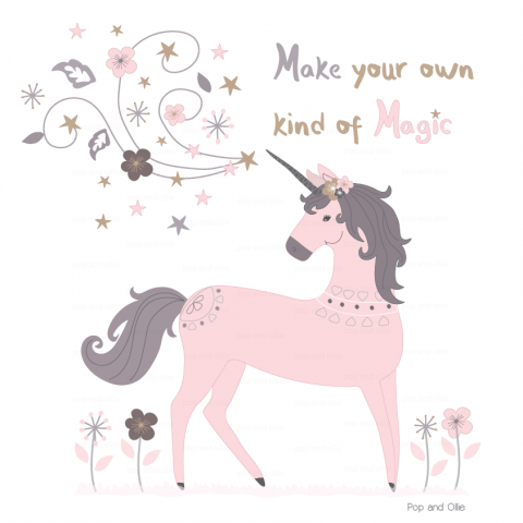 Magical Unicorn and Quote Wall Decals
