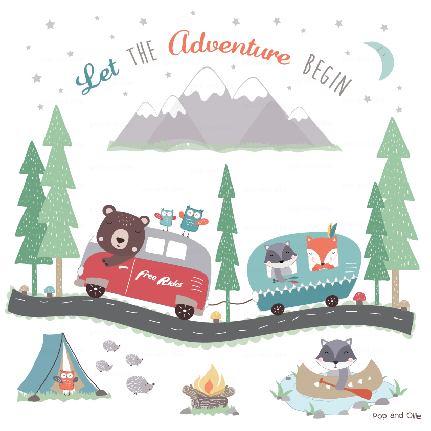 Adventure Woodland Wall Decals