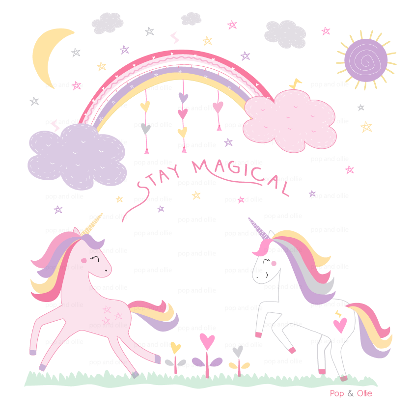 Stay Magical Unicorn Wall Decals