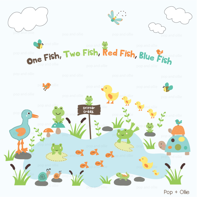 In the Pond - Die Cut Wall Decals