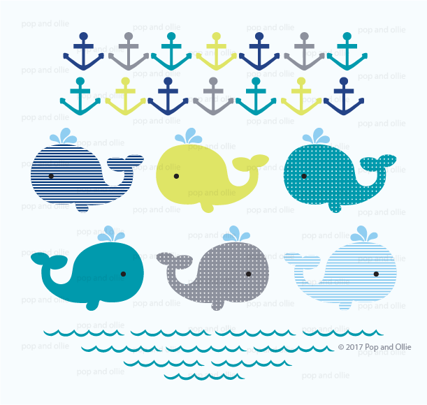 Waves and Whales Decals
